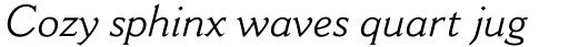 Cantoria MT Std Italic sample
