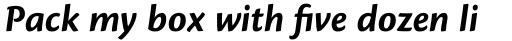 Cronos Pro SubHead Bold Italic sample