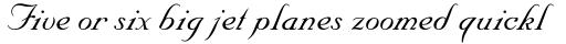 Nuptial Script LT Std sample