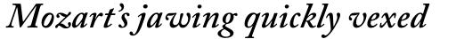 Adobe Caslon Pro SemiBold Italic sample