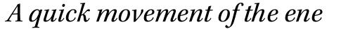 Kepler Std Italic sample