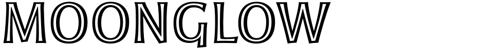 Click to view  Moonglow font, character set and sample text