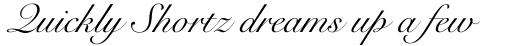 Snell Roundhand LT Std Script sample