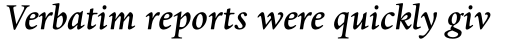 Dante MT Std Medium Italic sample