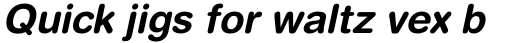 Helvetica Rounded Bold Obl sample