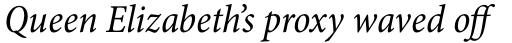 Minion Pro Cond Italic sample