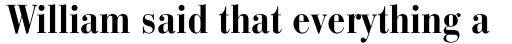 Bauer Bodoni Std Bold Condensed sample