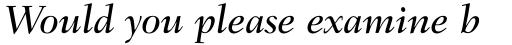 Fairfield LT Std Medium Italic sample