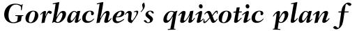 Fairfield LT Std Bold Italic sample