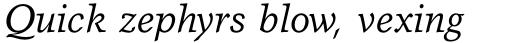 Garth Graphic Std Italic sample