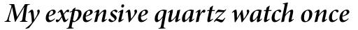 Minion Pro SubHead SemiBold Italic sample