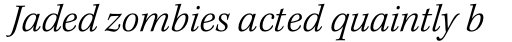 Kepler Std Light Italic sample