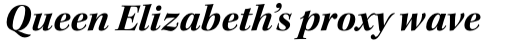 Kepler Std SubHead Bold Italic sample