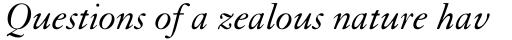 Granjon LT Std Italic sample