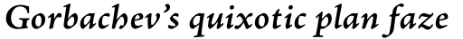 Adobe Jenson Pro SemiBold Italic Caption sample