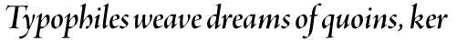 Adobe Jenson Pro SemiBold Italic Display sample
