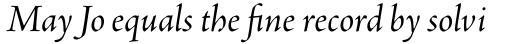 Adobe Jenson Pro Italic Subhead sample