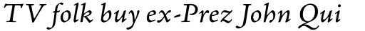 Adobe Jenson Pro Italic Caption sample