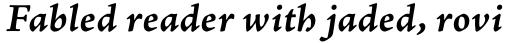 Adobe Jenson Pro Bold Italic Caption sample