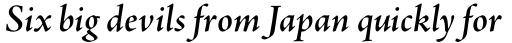 Adobe Jenson Pro SemiBold Italic Subhead sample