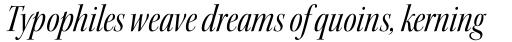 Kepler Std Display Cond Italic sample
