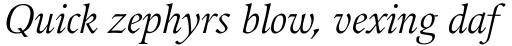 Guardi LT Std Italic sample