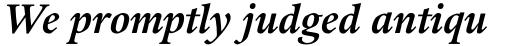 Guardi LT Std Bold Italic sample