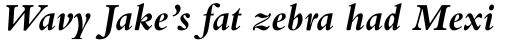 Bembo Std Bold Italic sample