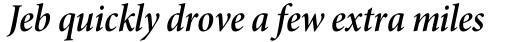 Minion Pro SubHead Cond SemiBold Italic sample