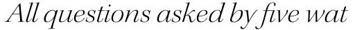 Kepler Std Display Ext Light Italic sample