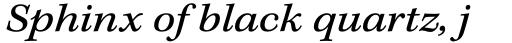 Kepler Std Caption Ext Italic sample