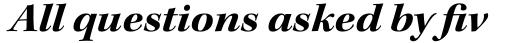 Kepler Std SubHead Ext Bold Italic sample