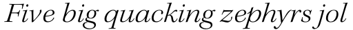 Kepler Std SubHead Ext Light Italic sample