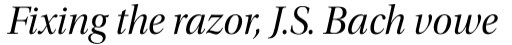 Utopia Display Italic sample