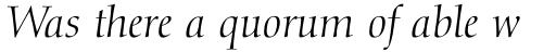 Diotima LT Std Italic sample