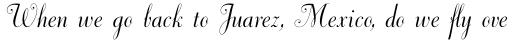Dorchester Script MT Std sample