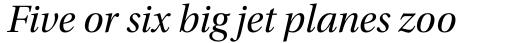 Utopia SubHead Italic sample