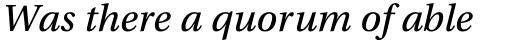 Utopia Caption Italic sample