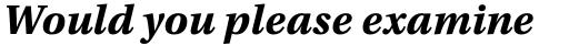 Utopia Caption Bold Italic sample