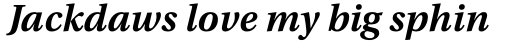 Utopia Caption SemiBold Italic sample