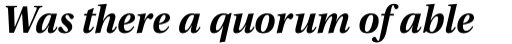 Utopia SubHead Bold Italic sample