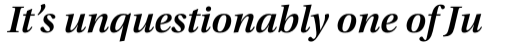 Utopia SubHead SemiBold Italic sample