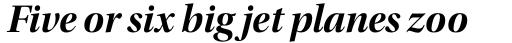 Utopia Display Bold Italic sample