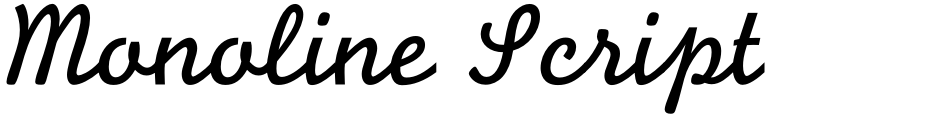 Click to view  Monoline Script MT font, character set and sample text