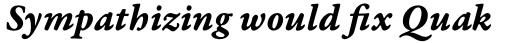 Garamond Premr Pro Caption Bold Italic sample