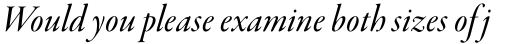Garamond Premier Pro Medium Italic Display sample