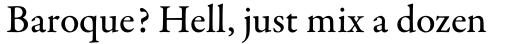 Garamond Premr Pro Med sample