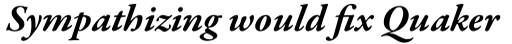 Garamond Premier Pro Bold Italic sample
