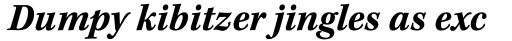 Kepler Std Caption SemiCond Bold Italic sample