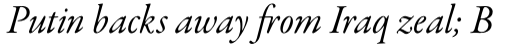 Garamond Premier Pro Italic Subhead sample
